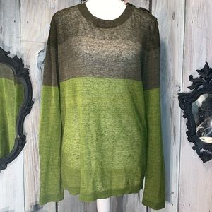DIESEL Block Sweater Military to Olive Green Fade